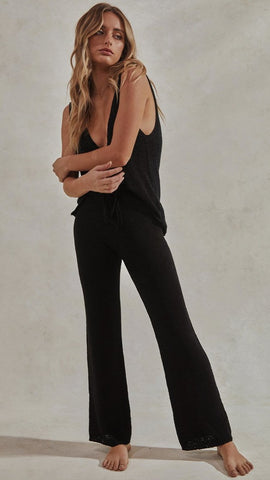 Celeste Top & Pants Set - Black