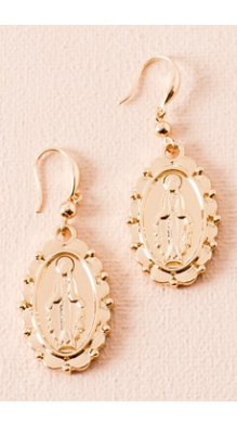 Saint Earrings - Gold