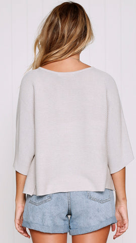 Calista Knit Top - Oatmeal