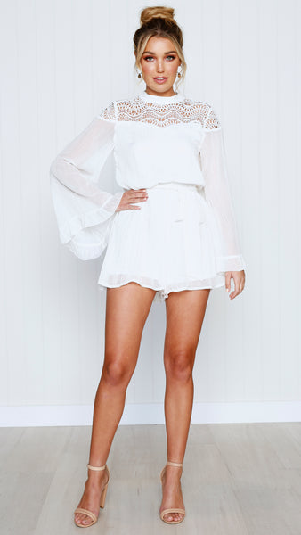 Halle Playsuit - White