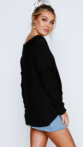 LILIAN KNIT - Black