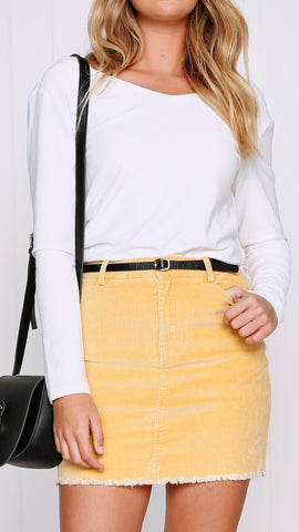 Dallas Skirt - Mustard