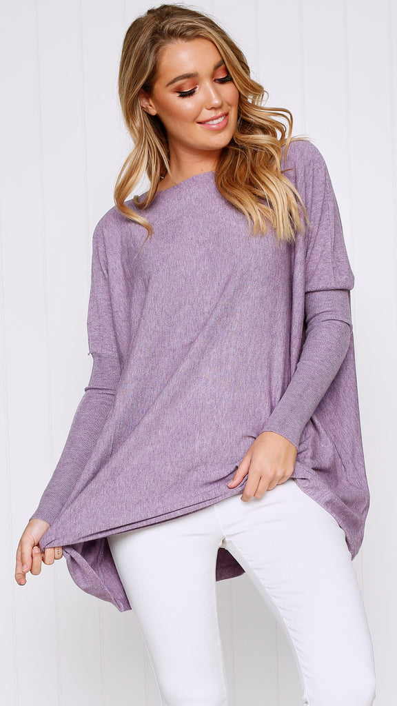 Warrior Knit Top - Lilac