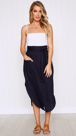 Marina Skirt - Navy