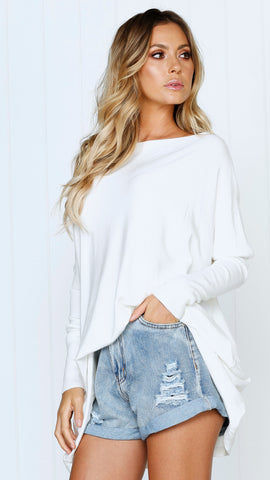 Warrior Knit Top - White