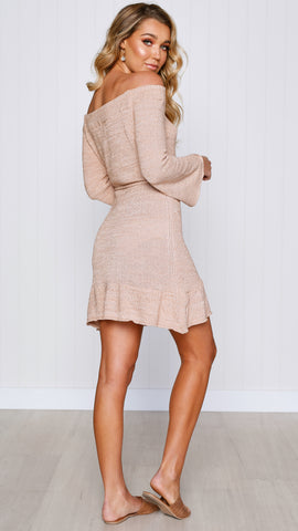 Esther Knit Dress - Dusty Rose
