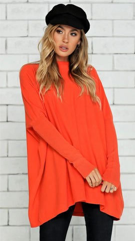 Warrior Knit Top - Orange