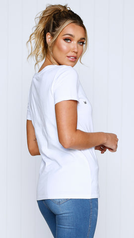 "Cara ""Weekend"" Tee - White"