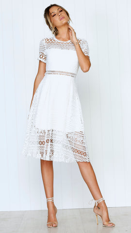 Exclusive Lace Dress - White