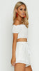 DAKOTA CREPE SHORTS SET - WHITE