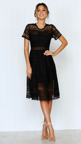 Exclusive Lace Dress - Black