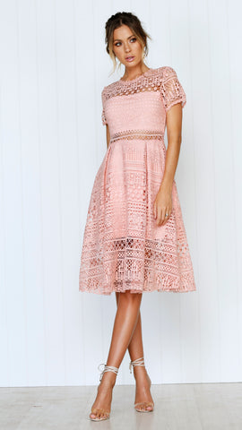Exclusive Lace Dress - Pink