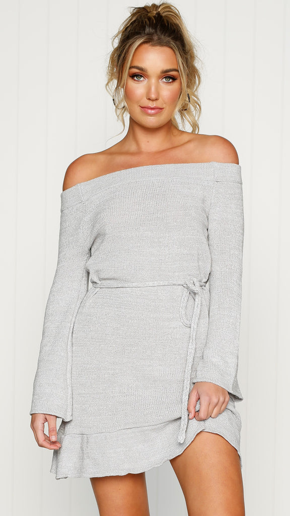 Esther Knit Dress - Grey