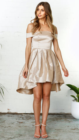 TOBY DRESS - CHAMPAGNE