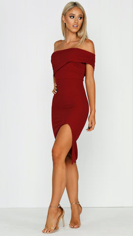 Sweet Surrender Dress - wine