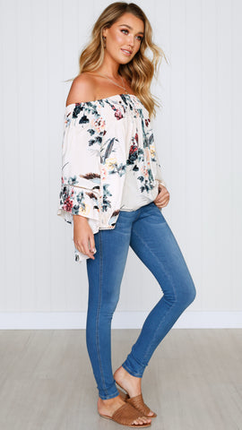 Only in Dreams Top - Blush Floral