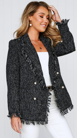 Lucas Blazer - Black Tweed
