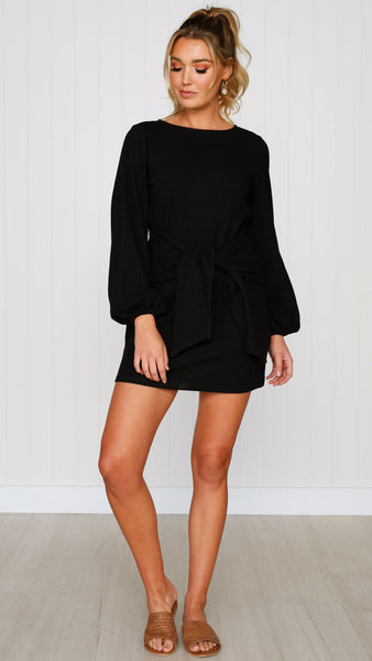 Temple Knit Dress - Black