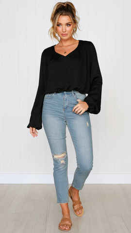 HAZEL TOP - BLACK