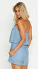 Harper Strapless Playsuit