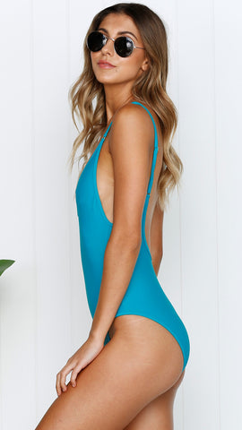 High Tide One Piece - Turquoise