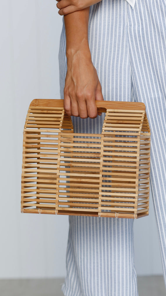 Aruba Wooden Clutch
