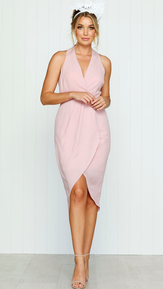 EVENING LIGHT DRAPE DRESS Misty Rose - Cooper St
