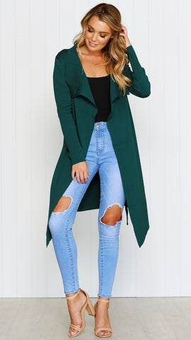 Solna Cardigan - FOREST GREEN