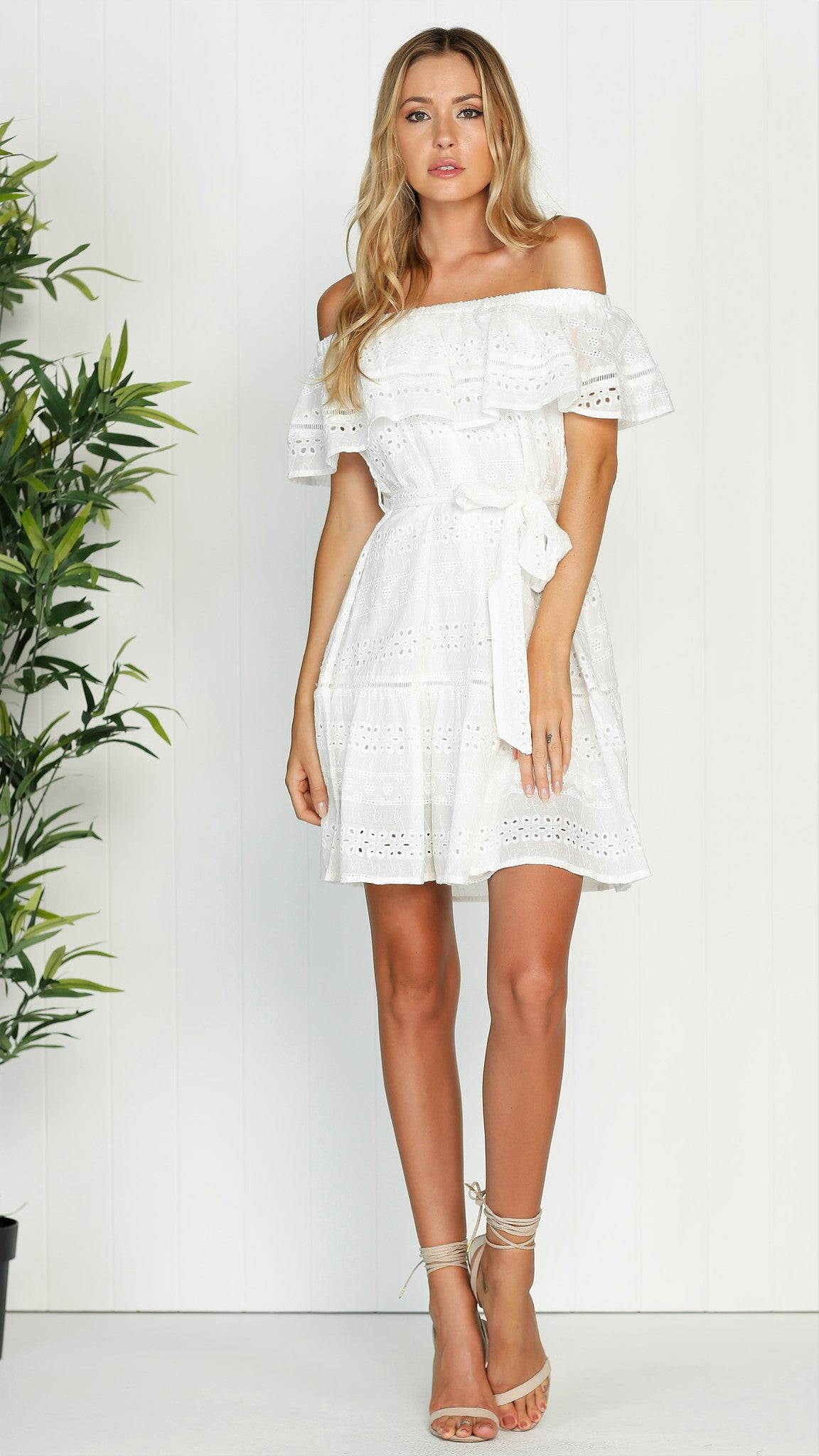 Poppy Dress - White