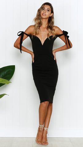 CAMERON DRESS - BLACK -  RESTOCKED