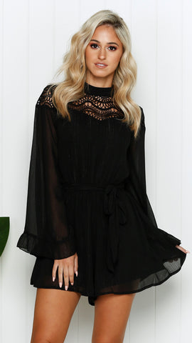 Halle Playsuit - Black
