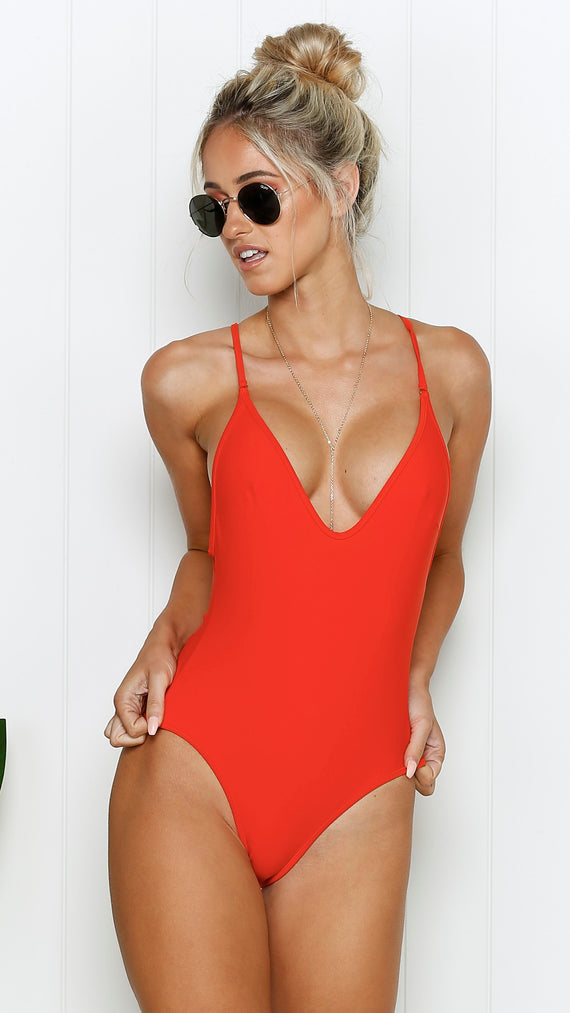 High Tide One Piece - Blood Orange