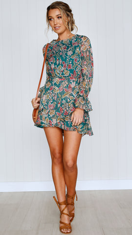Thea Dress - Forest Green