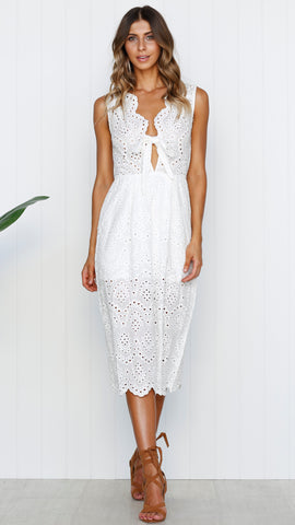 Alice Midi Dress - White