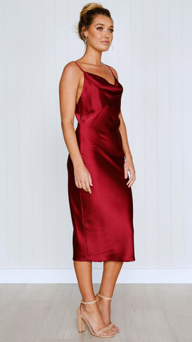 Jewels Dress - Wine