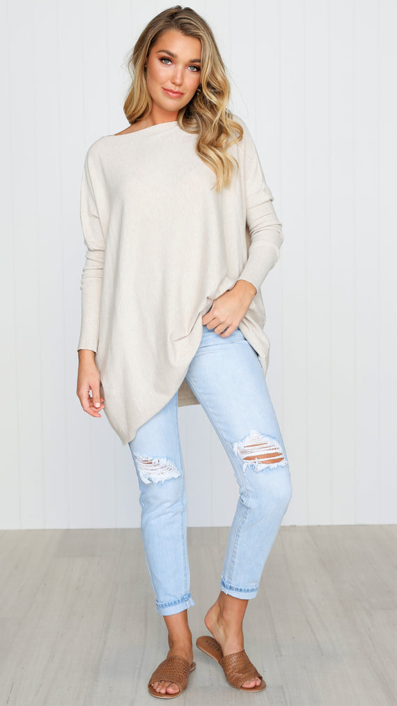 Warrior Knit Top - Oatmeal