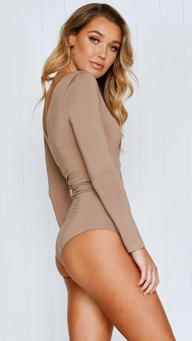 On the level bodysuit - Mocha