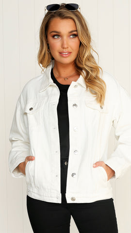 Boyfriend Denim Jacket - White
