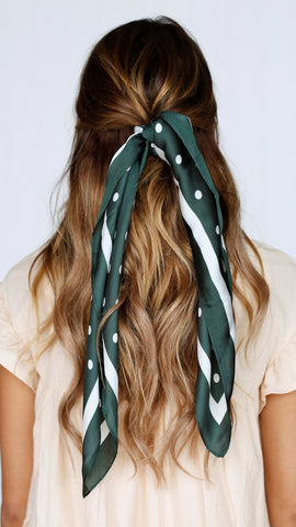 Forest Green Hair Scarf
