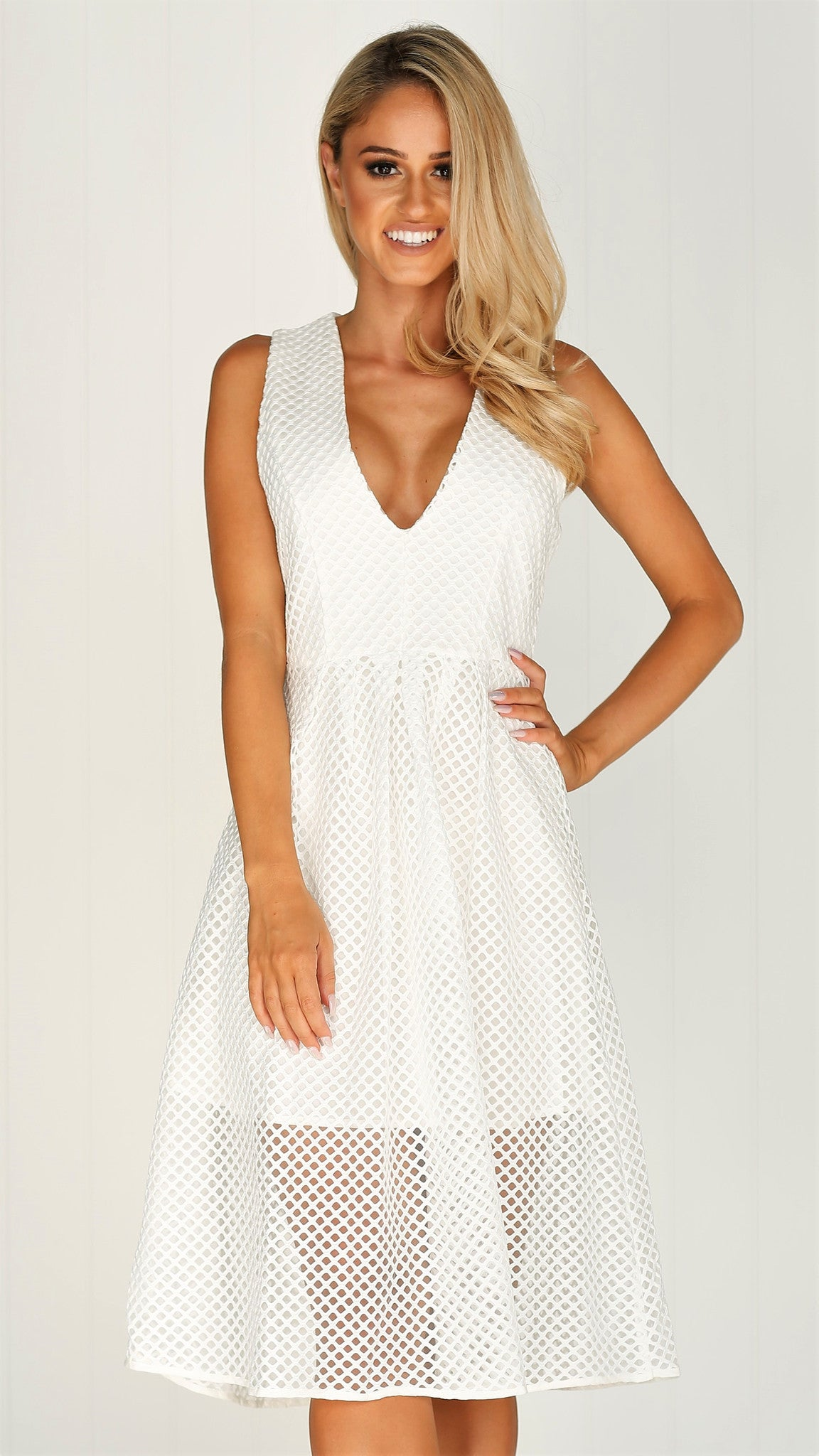 Devi Dress - White