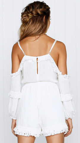Barkley Playsuit - White