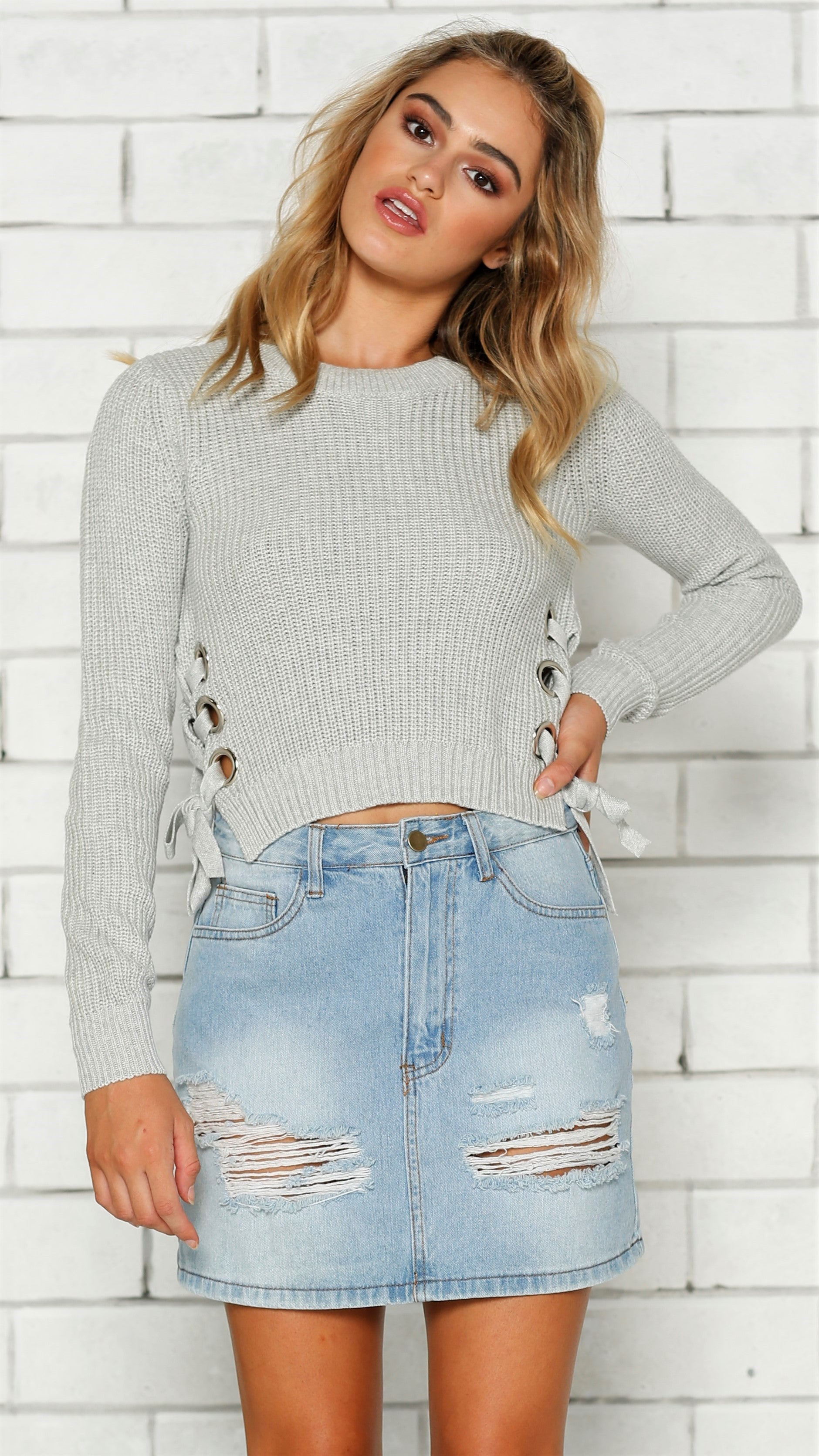 Honey Knit - Grey
