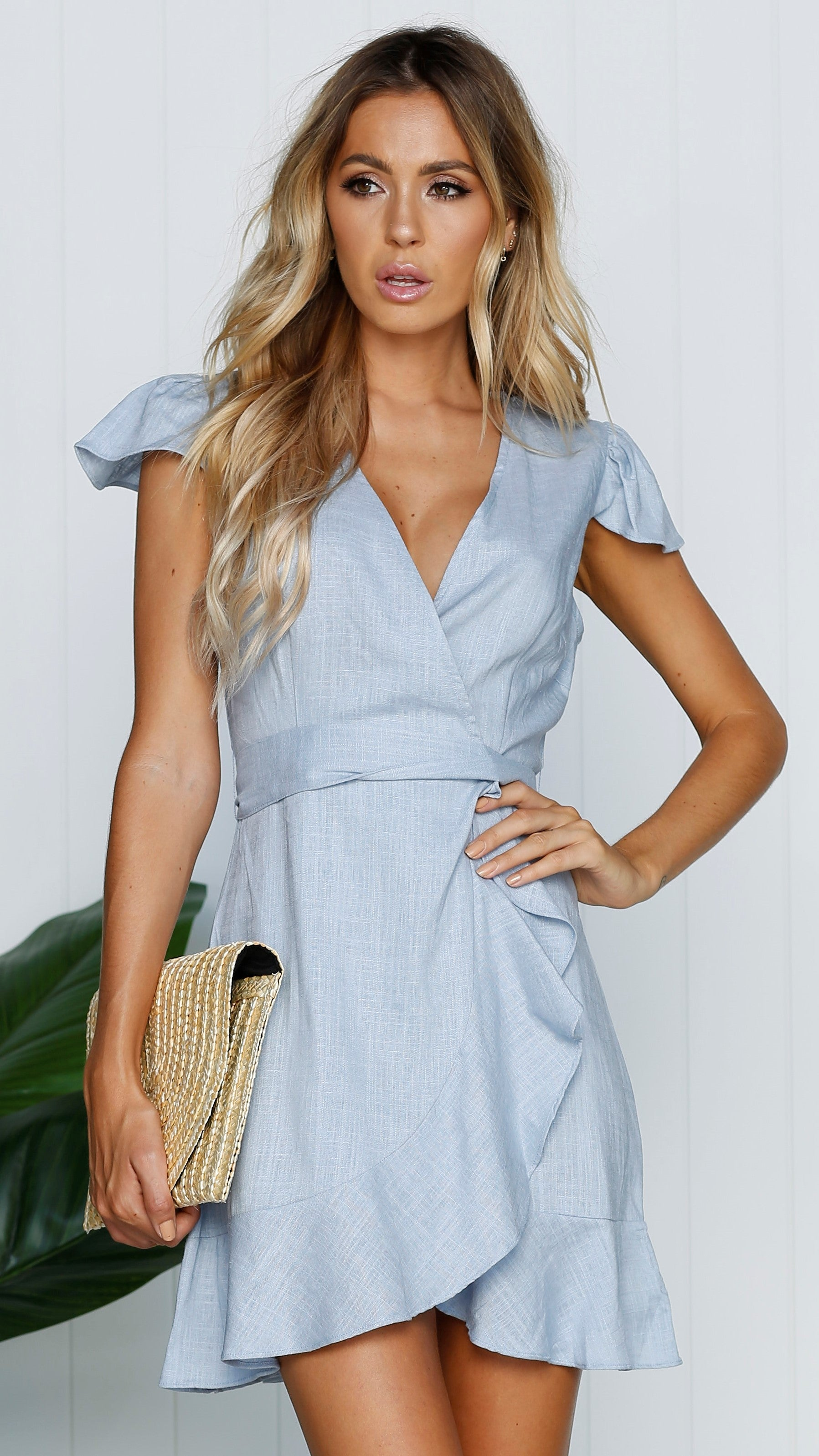 Amelie Dress - Light Blue