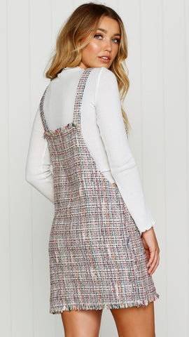 Tweed Pinafore Dress
