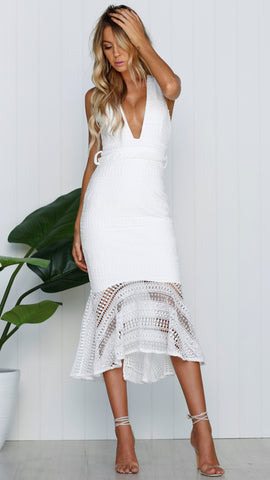 Vermont Dress - White Lace - Restocked