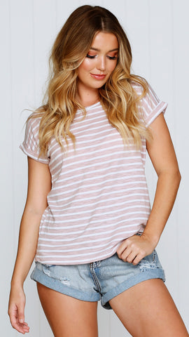 Oscar Tee - Dusty Pink