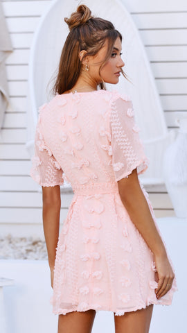 Azure Dress - Blush Textured