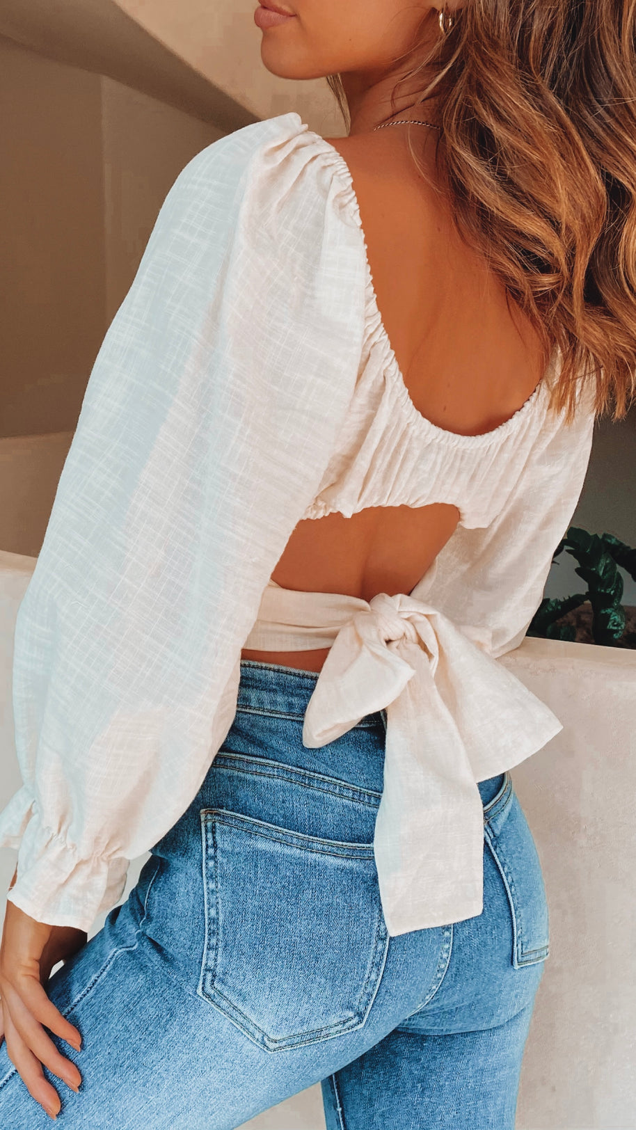Kyla Crop Top - Off White