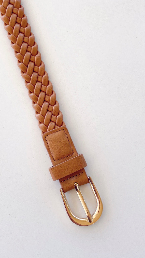 Rosa Braided Belt - Tan