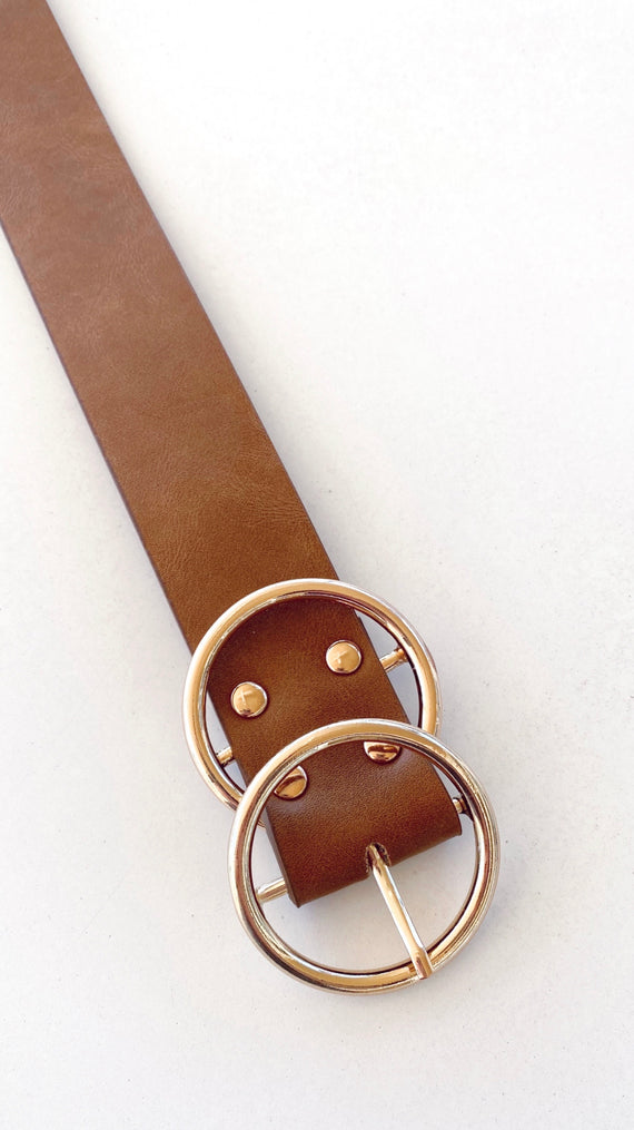 Marli Belt - Tan/Gold